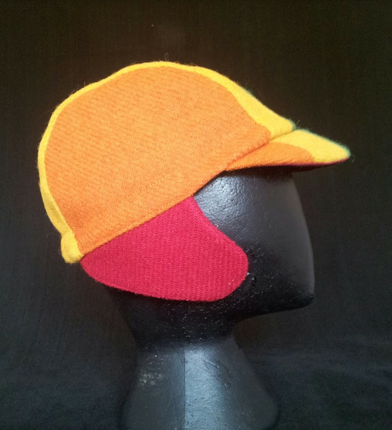 Harris Tweed Cycling Cap, Bespoke, AmiCharnel (RAINBOW)
