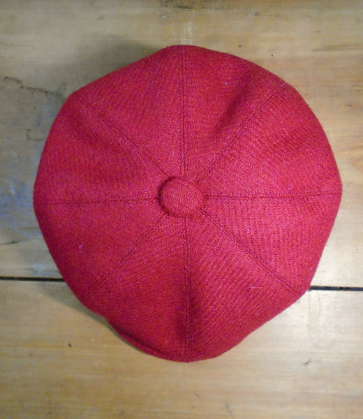 Childs Bespoke Harris Tweed Baker Boy Cap Newsboy Hat