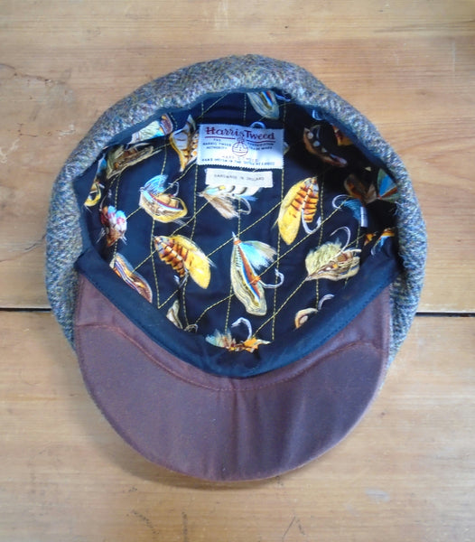 Bespoke Angler's Harris Tweed Baker Boy Cap Newsboy Hat