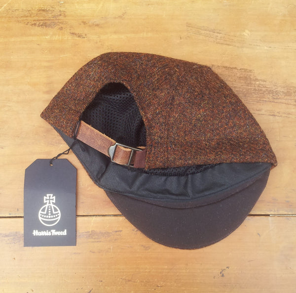 Harris Tweed Cycling Cap, Bespoke, All Sizes Catered For (Brown.)