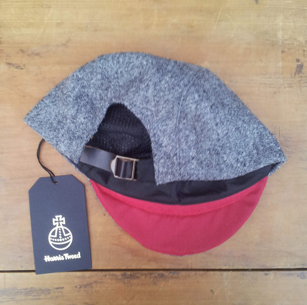 Bespoke made to order cycling cap (all sizes catered for) Handmade in wonderful grey Harris tweed.