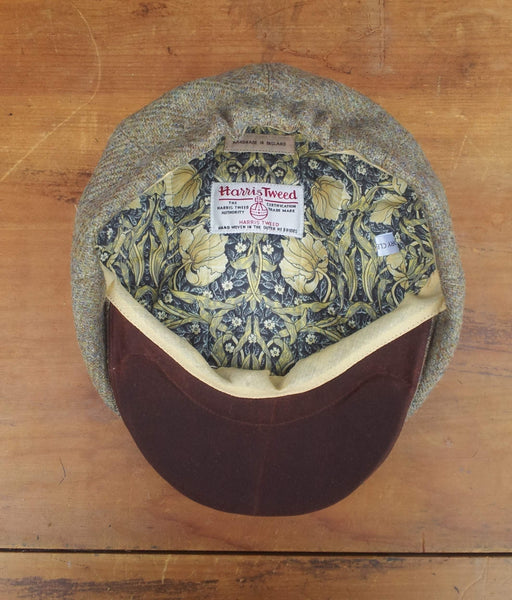 Made To Order Harris Tweed Baker Boy, Newsboy Cap. All Sizes Catered For. Choice Of Linings, And Leather Sweatband Option. Wonderful Tweed, Superior Workmanship. AmiCharnel.