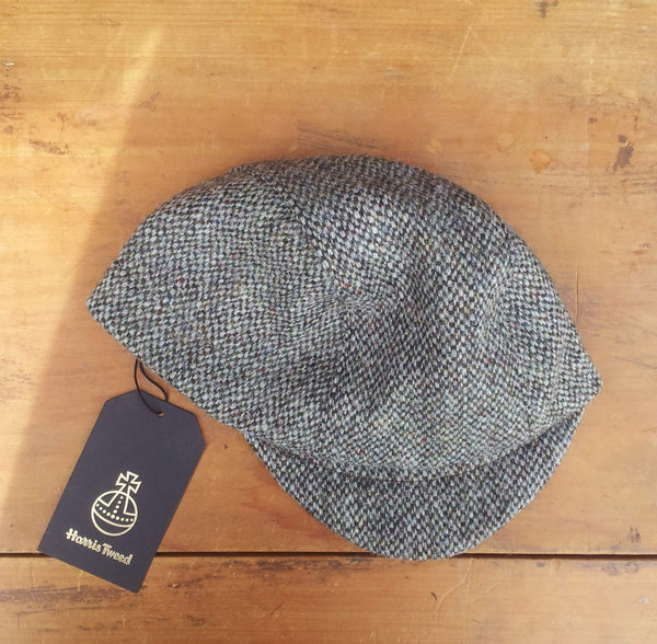 Harris Tweed Cycling Cap, Bespoke, All Sizes Catered For, Amicharnel (Barleycorn.)