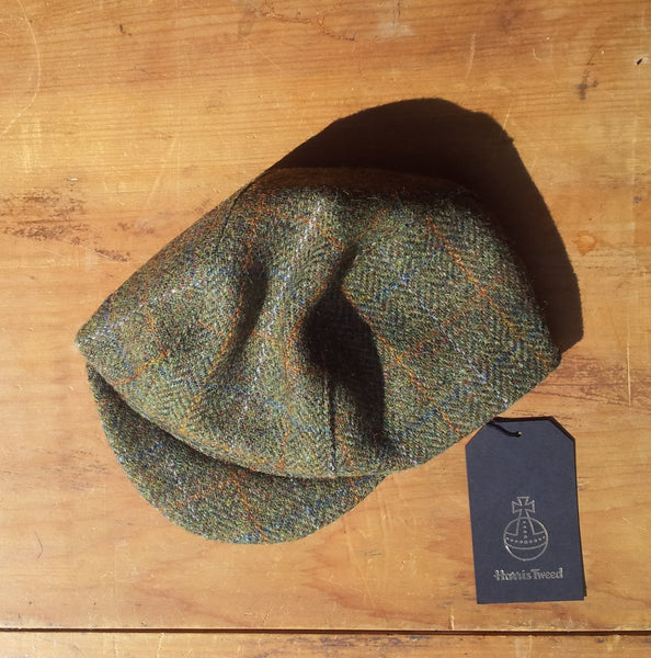 Harris Tweed Cycling Cap, Bespoke, All Sizes Catered For, AmiCharnel (Traditional Tweed 2.)