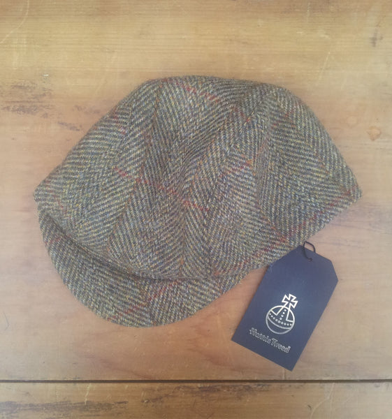 'Harris Tweed' Cycling Cap, All Sizes Catered, AmiCharnel. Traditional Tweed
