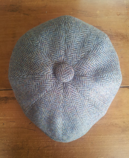 Herringbone Made To Order Harris Tweed Baker Boy, Newsboy Cap. All Sizes Catered For. Choice Of Linings, And Leather Sweatband Option. Wonderful Tweed, Superior Workmanship. AmiCharnel.