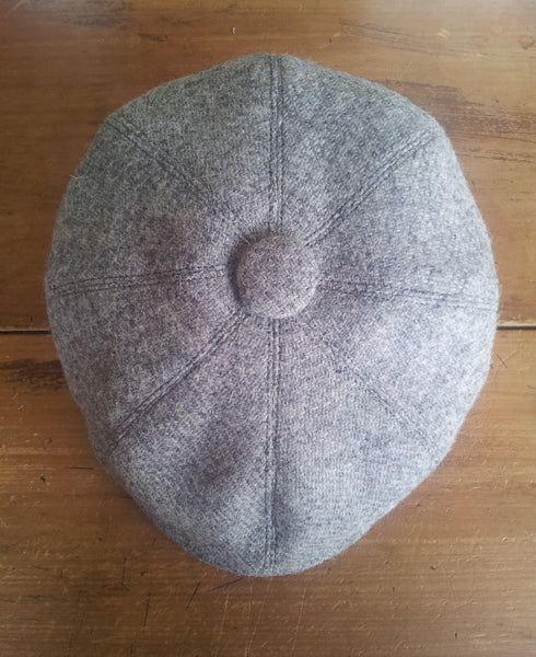 Grey Made To Order Harris Tweed Baker Boy, Newsboy Cap. All Sizes Catered For. Choice Of Linings, And Leather Sweatband Option. Wonderful Tweed, Superior Workmanship. AmiCharnel.
