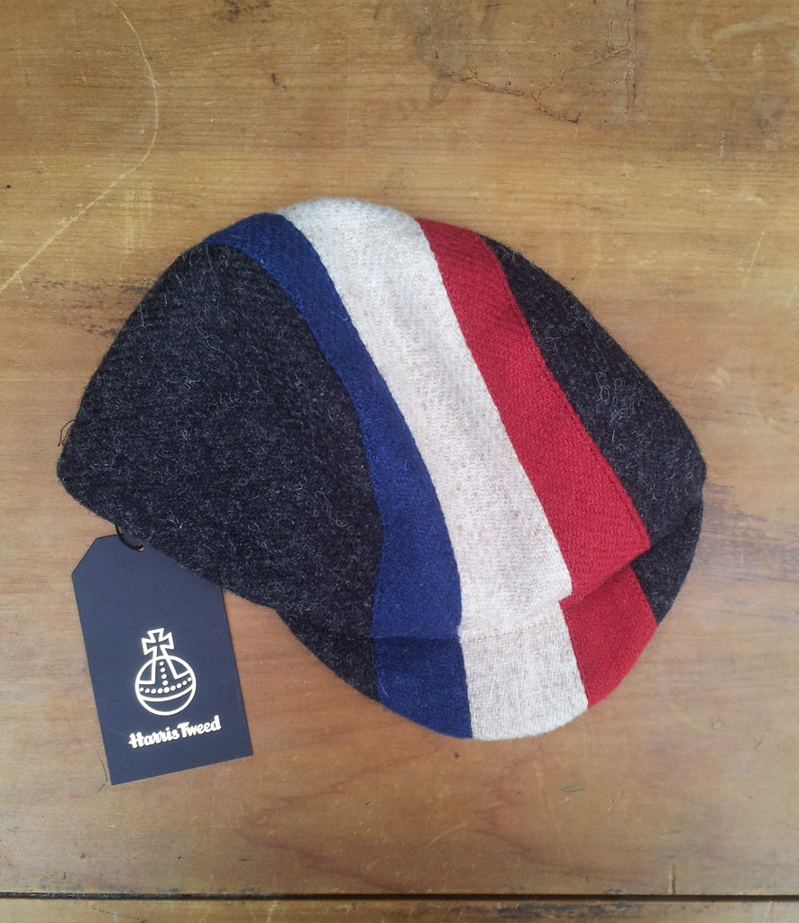 Bespoke made to order cycling cap (all sizes catered for) in three  wonderful Harris ... a89f859cac5