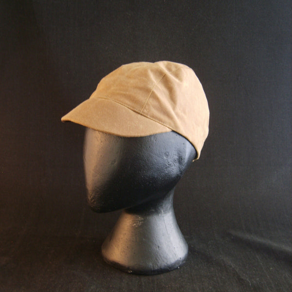 Waxed cotton cycling cap.