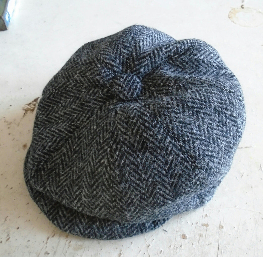 Bespoke Children s Harris Tweed Bakerboy Cap Newsboy Hat  da38a0d2605