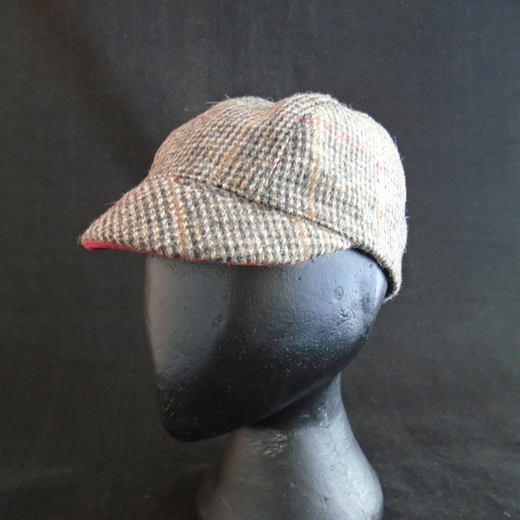 'Harris Tweed' Cycling Cap, Bespoke, All Sizes Catered For, Fully Lined (tweed.)