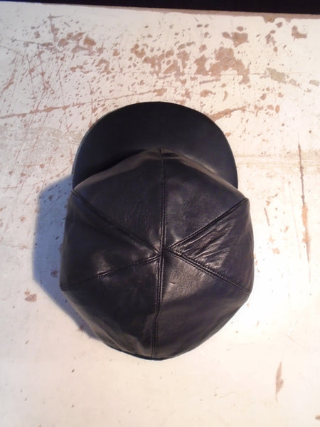 Leather Snapback/Baseball/Trucker Cap, Made To Order BLACK.