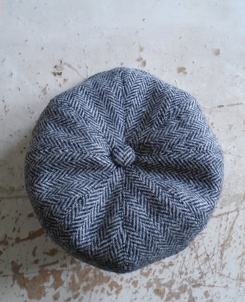 Harris Tweed Baker Boy, Newsboy Cap, Bespoke, All Sizes Catered For (herringbone)