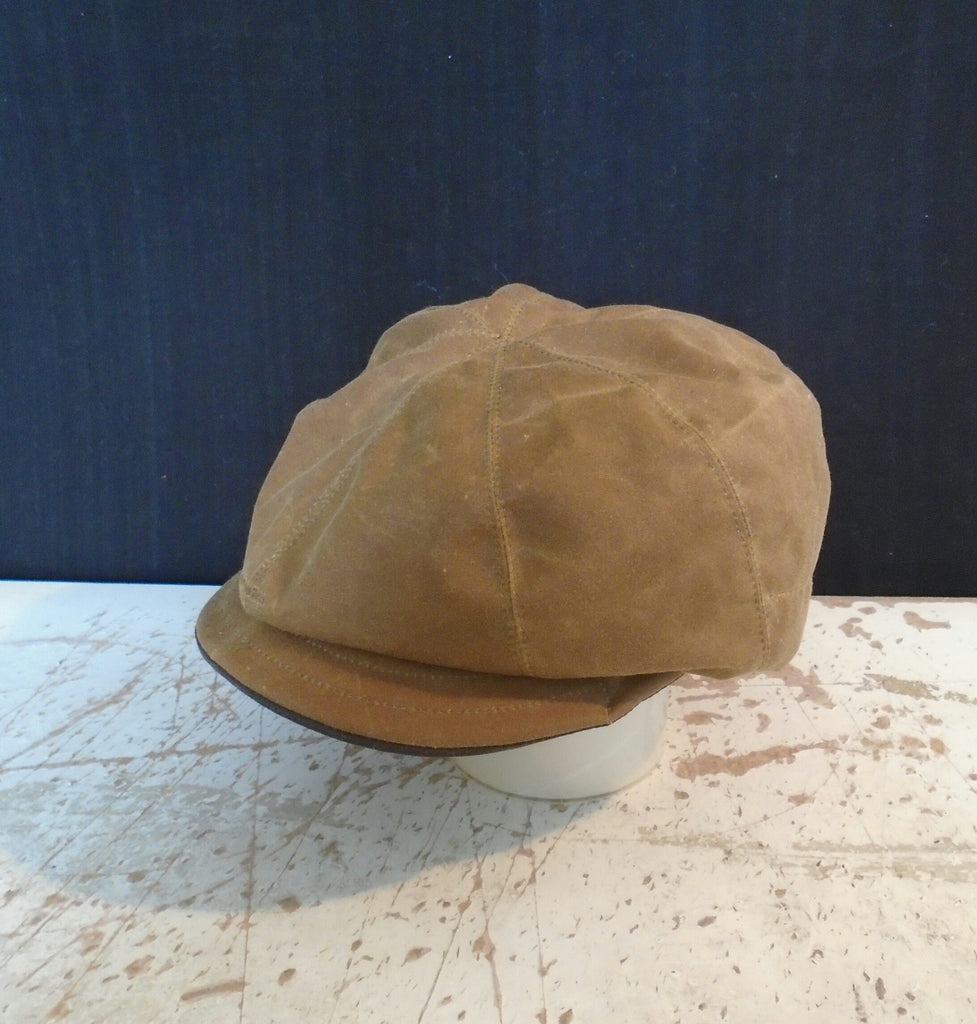 Bespoke Children's Waxed Cotton Baker Boy Hat Newsboy Cap