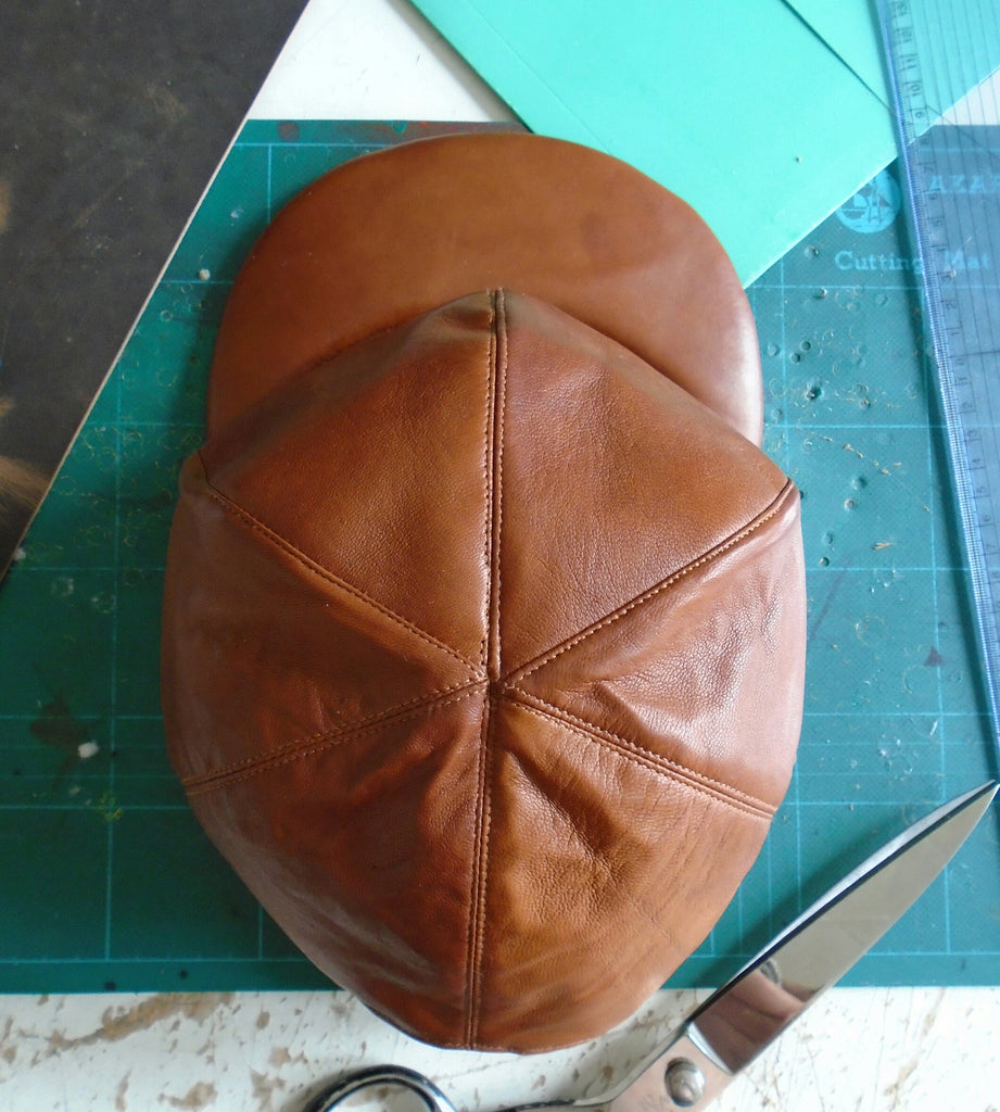 Leather Snapback/Baseball/Trucker Cap, Made To Order CHESTNUT.