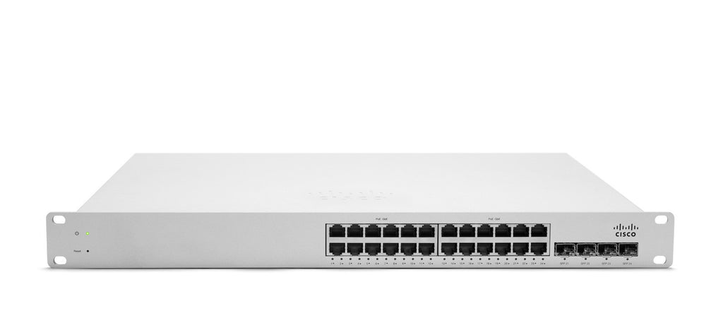 Meraki Cloud-Managed L2 24 Port Gigabit 370W PoE Switch<br /><br /><small>(Part #: MS220-24P-HW)</small>