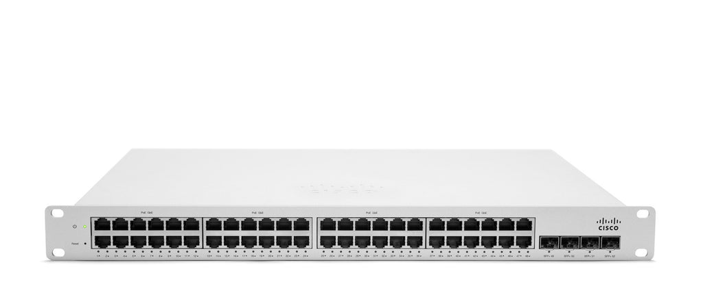 Meraki Cloud-Managed L3 48 Port Gigabit 370W PoE Switch<br /><br /><small>(Part #: MS320-48LP-HW)</small>