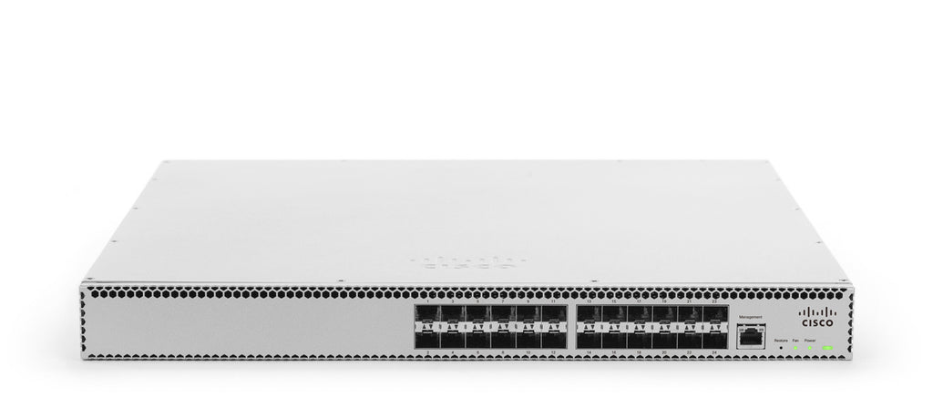 Meraki Cloud-managed 24 port 10 GbE aggregation switch<br /><br /><small>(Part #: MS420-24-HW)</small>