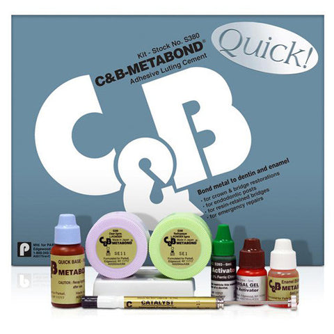 C&B-Metabond Quick  Adhesive Kit S380 - Parkell       GIFT CARDS     -  $20, , PARKELL - Canadian Dental Supplies, office supplies, medical supplies, dentistry, dental office, dental implants cost, medical supply store, dental instruments, dental supplies canada, dental supply, dental supply company