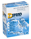 Bite Registration Regular Set - DEFEND..2 cartridges       GIFT CARDS     -  $5     4+ $7.50, , DEFEND - Canadian Dental Supplies, office supplies, medical supplies, dentistry, dental office, dental implants cost, medical supply store, dental instruments, dental supplies canada, dental supply, dental supply company