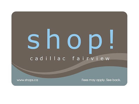 Cadillac Fairview Malls Gift Card Gift Cards