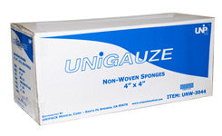 Gauze 4x4 Non-Woven 2000pcs - Unipack       GIFT CARDS     -  $5     4+ $10, , UNIPACK - Canadian Dental Supplies, office supplies, medical supplies, dentistry, dental office, dental implants cost, medical supply store, dental instruments, dental supplies canada, dental supply, dental supply company