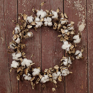 Cotton 'N' Pods Wreath 20""