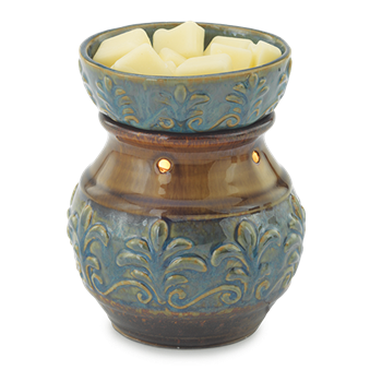 Blue Fleu De Lis Illuminating Candle Warmer