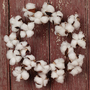 Cotton Wreath 11""