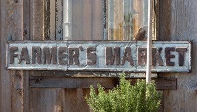 Farmer's Market Metal Sign