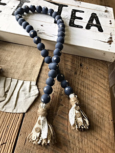 "Farmhouse Swag Beads Chippy ""Ship of Zion"""