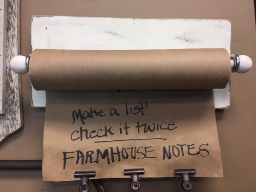 Farmhouse Note Roll Small
