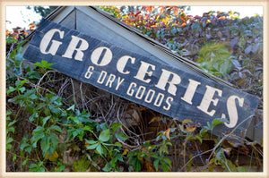"Wood Sign ""Groceries"""