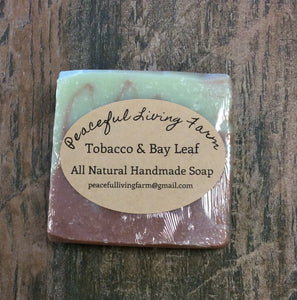 "Handmade Soap ""Tob. and Bay Leaf"" All Natural"