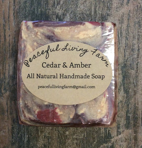 "Handmade Soap ""Cedar and Amber"" All Natural"