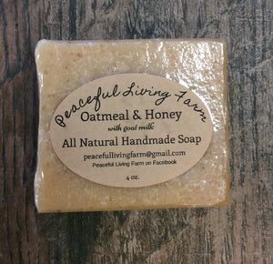 "Handmade Soap ""Oatmeal and Honey"" All Natural"