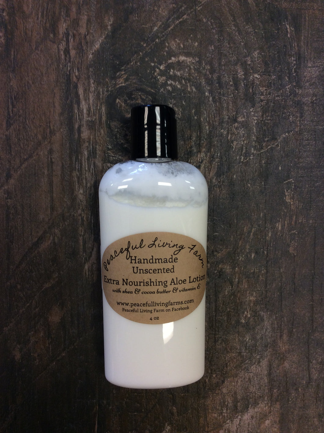 Handmade Unscented Extra Nourishing Aloe Lotion