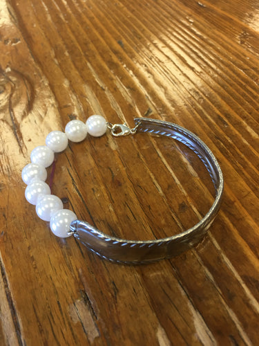 Spoon Bracelet - Pearls