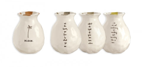 Rae Dunn Bloom Bud Vases, Set of 4