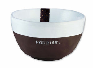 "Rae Dunn ""Chocolat"" Nourish Bowls Set of 6"