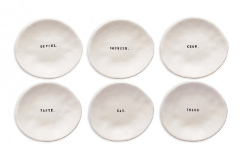 Rae Dunn Small Eating Dishes set of 6