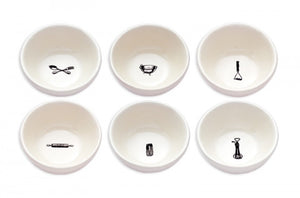 Rae Dunn Kitchen Icon Bowls Set of 6