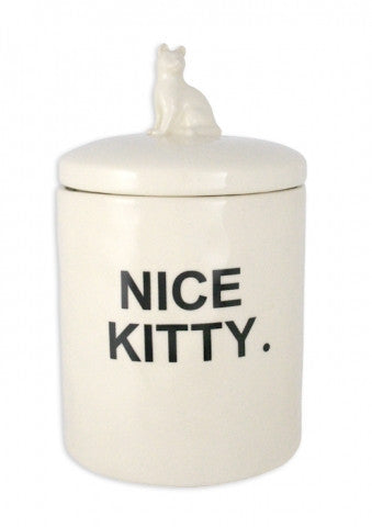 Rae Dunn Nice Kitty Jar