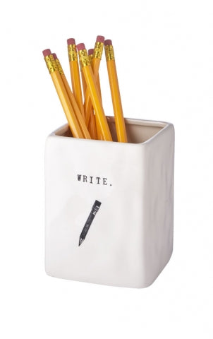 Rae Dunn Word Pen Pencil Holder