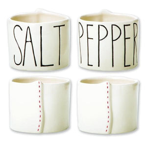 Rae Dunn Elongated Salt & Pepper Cellars