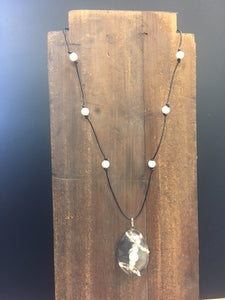 Spoon Necklace - Pearl
