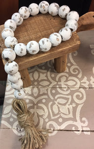 "Farmhouse Swag Beads ""Chippy loop with Tassel"""