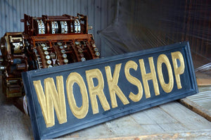 "38x10"" Engraved ""Workshop"" sign"