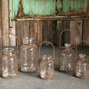 Chickenwire Bottle Collection set of 5