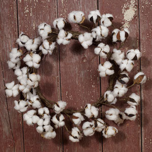 Cotton Wreath 16""